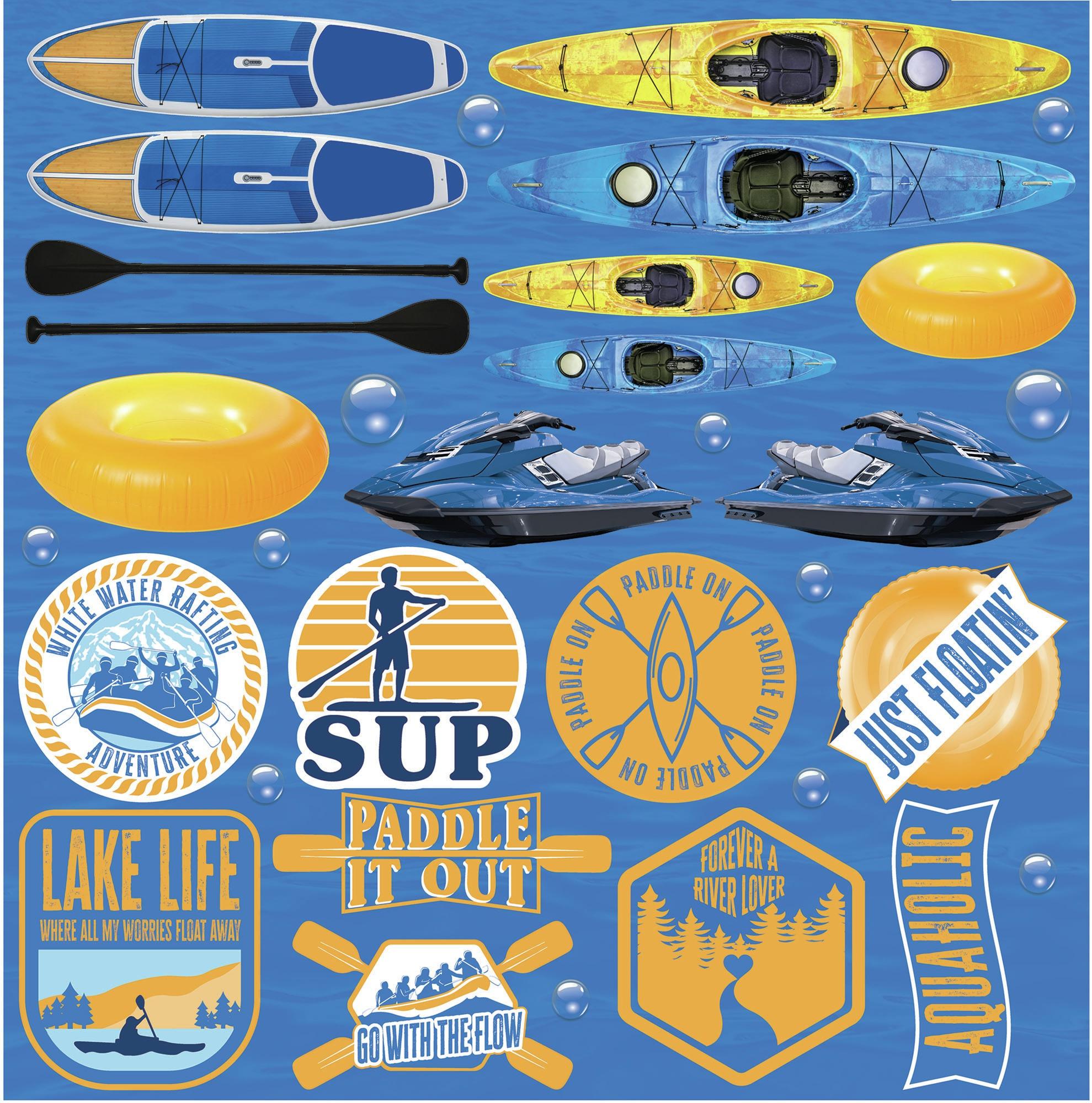 Reminisce Custom Cardstock Stickers 12X12-Watersports