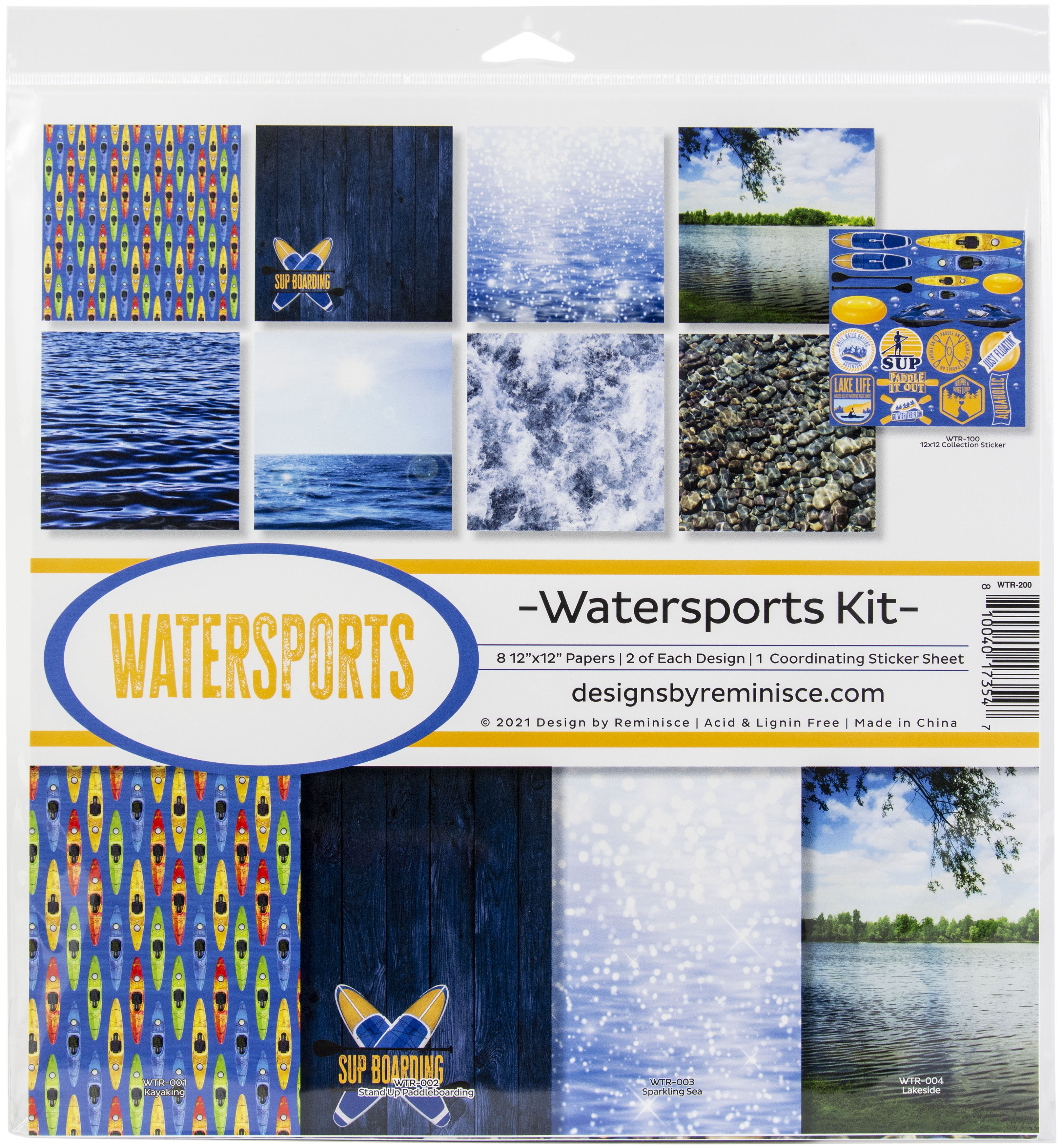 Reminisce Collection Kit 12X12-Watersports