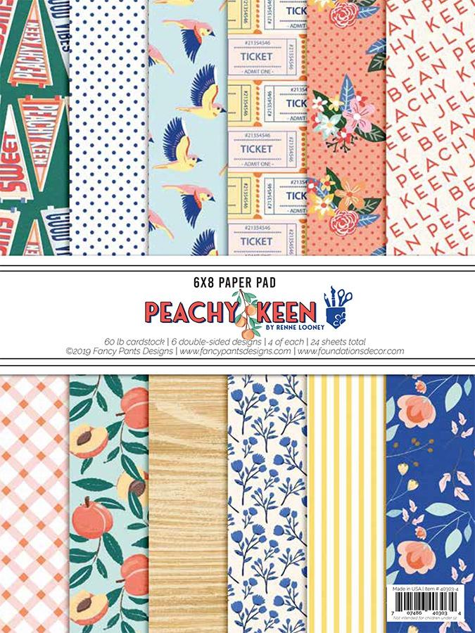 Fancy Pants Designs Paper Pad 6X8-Peachy Keen