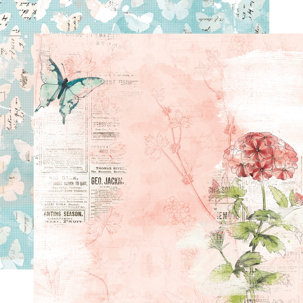 COLLECTION: Simple Vintage Cottage Fields Double-Sided Cardstock 12X12