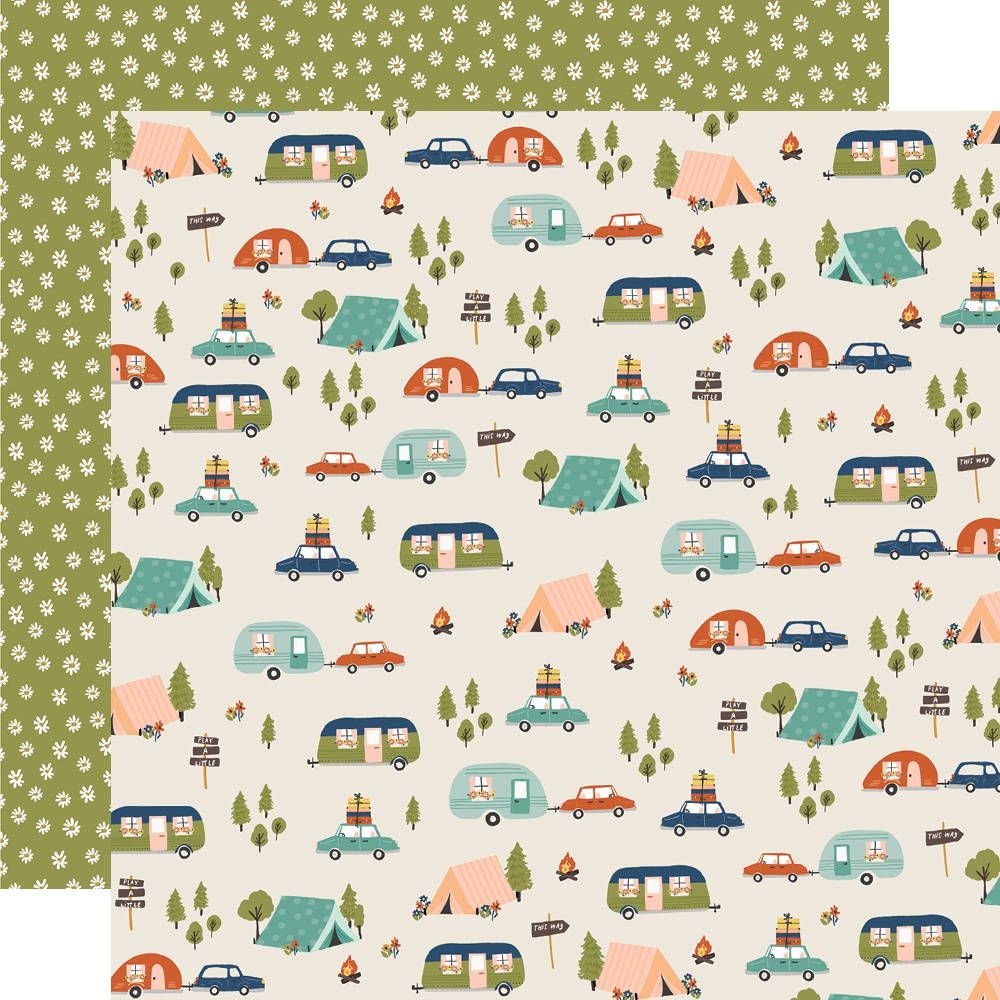 Simple Stories - Safe Travels Double-Sided Cardstock - Road Trip, 12x12