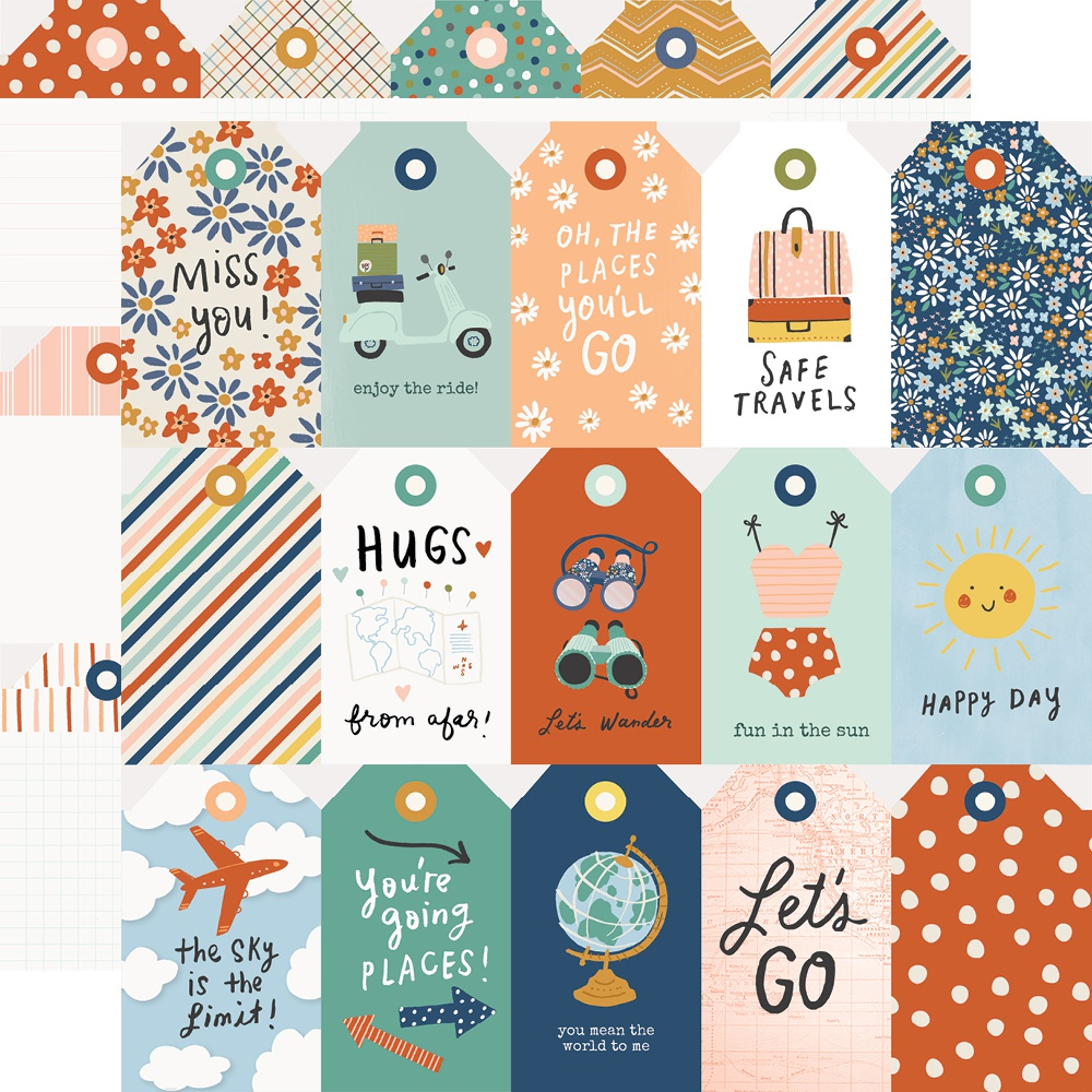 Safe Travels Double-Sided Cardstock 12X12-Weekend Vibes