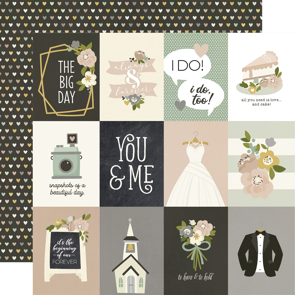 Happily Ever After Double-Sided Cardstock 12X12-3X4 Elements