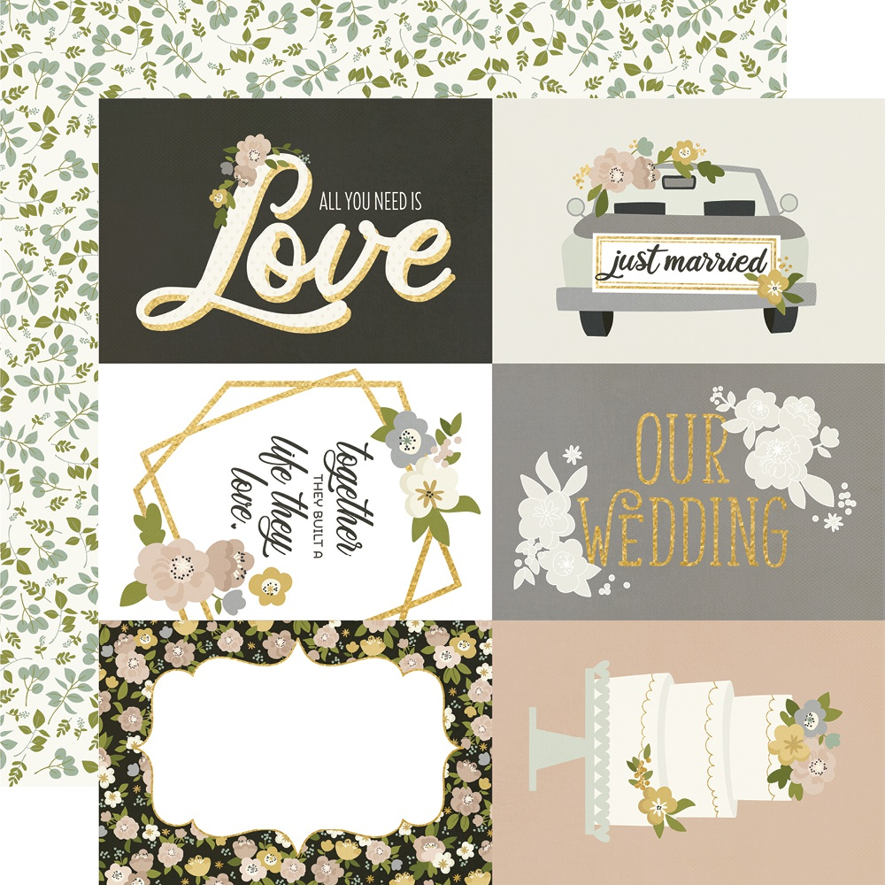 Happily Ever After Foiled Double-Sided Cardstock 12X12-4X6 Elements