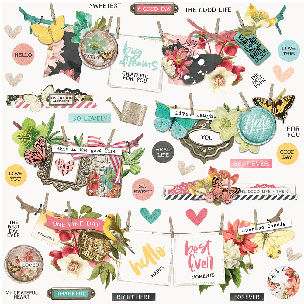 Simple Stories Simple Vintage Cottage Fields Cardstock Stickers - Banners