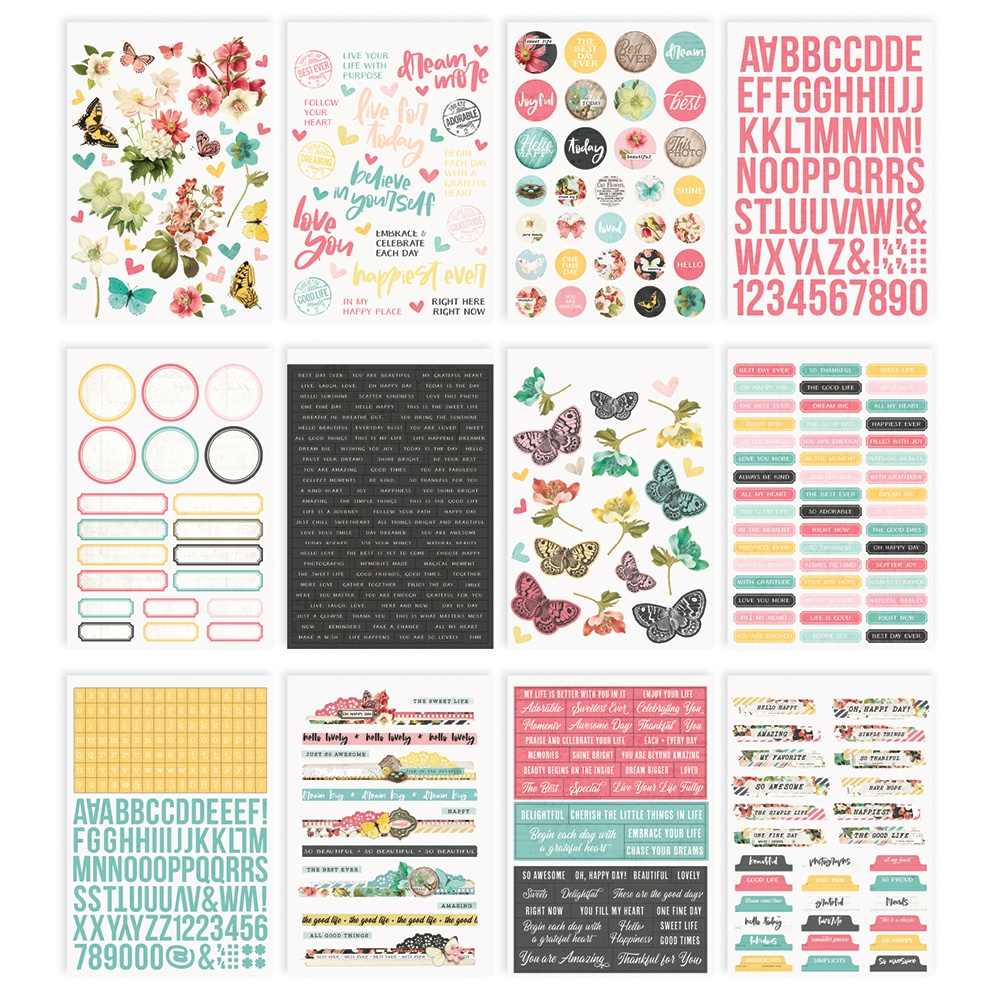 Simple Stories Sticker Book 12/Sheets-Simple Vintage Cottage Fields, 648/Pkg