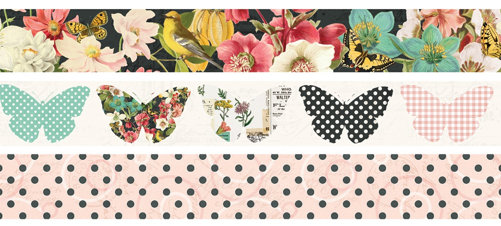 Simple Stories Simple Vintage Cottage Fields Washi Tape 3/Pk-