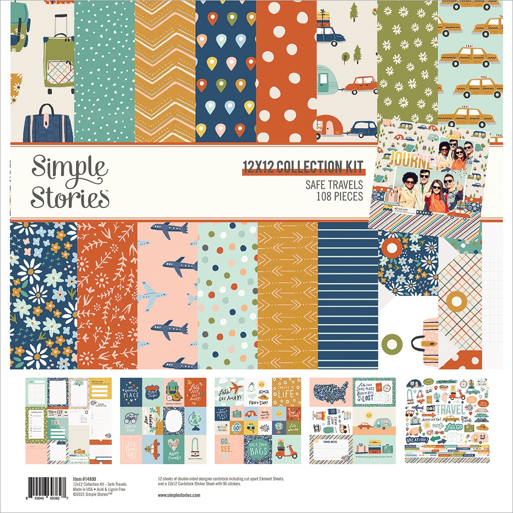 Simple Stories Collection Kit 12X12-Safe Travels
