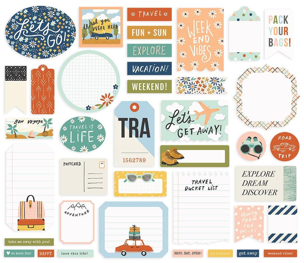 Simple Stories - Safe Travels Bits & Pieces Die-Cuts - Journal