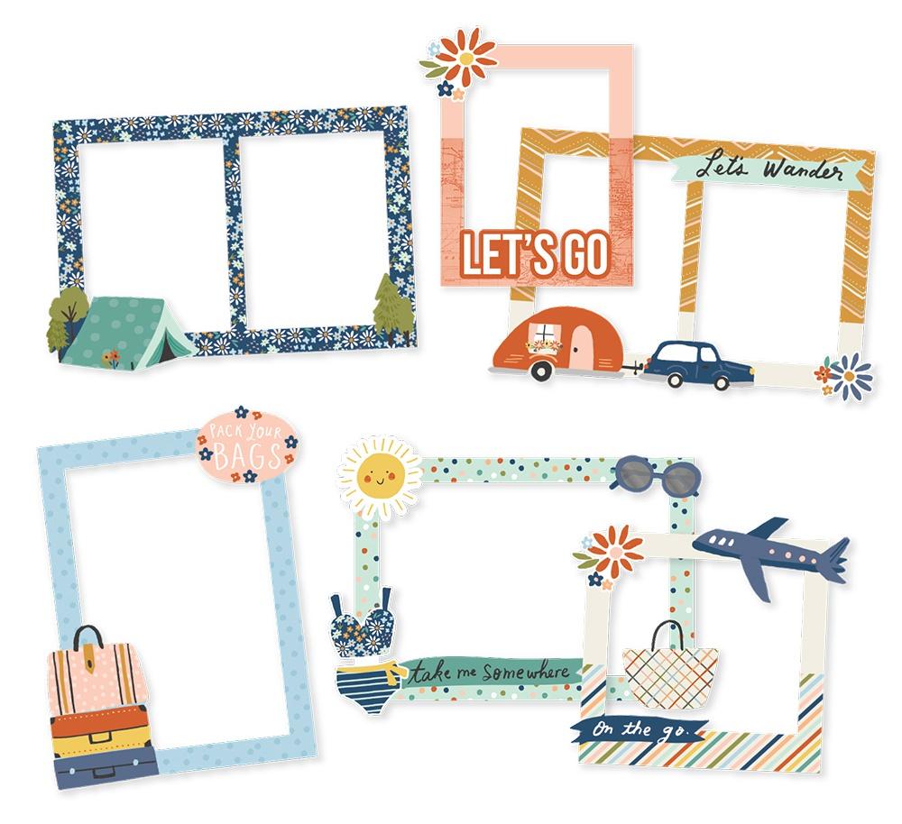 Safe Travels Chipboard Frames-