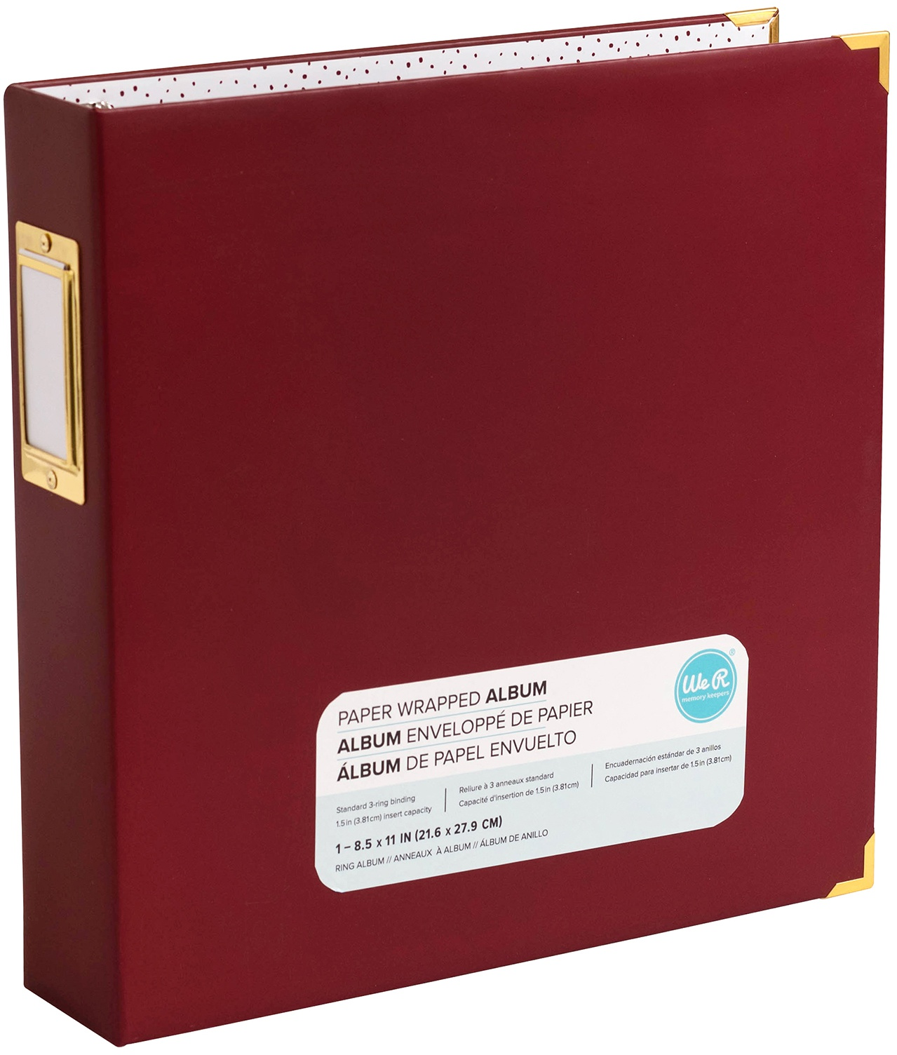 We R Paper Wrapped D-Ring Album 8.5X11-Maroon