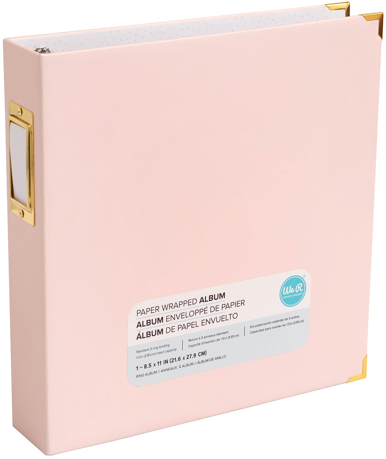 We R Paper Wrapped D-Ring Album 8.5X11-Pink