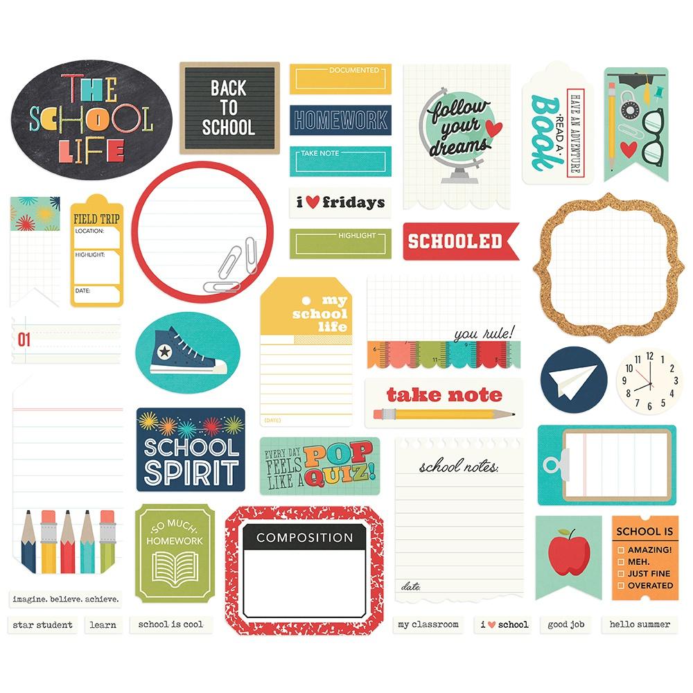 Simple Stories - School Life Bits & Pieces Die-Cuts - Journal