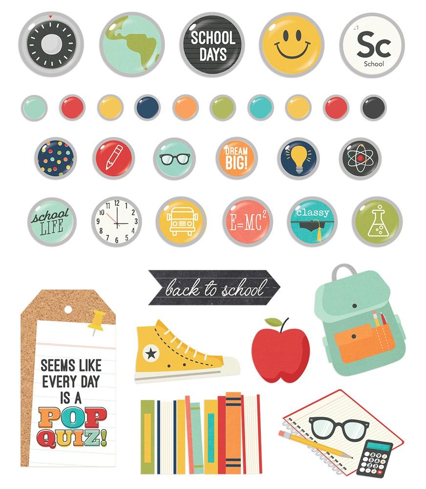 Simple Stories - School Life - Decorative Brads