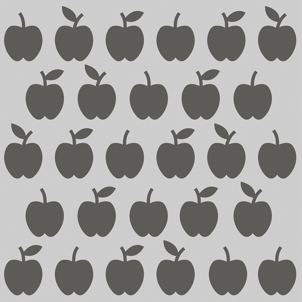 Simple Stories School Life Stencil 6X6-Apples