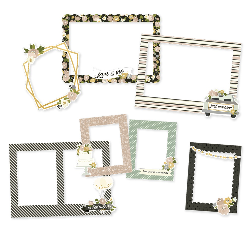 Happily Ever After Chipboard Frames-