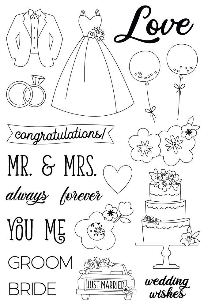 Simple Stories - Clear Stamps - Happily Ever After