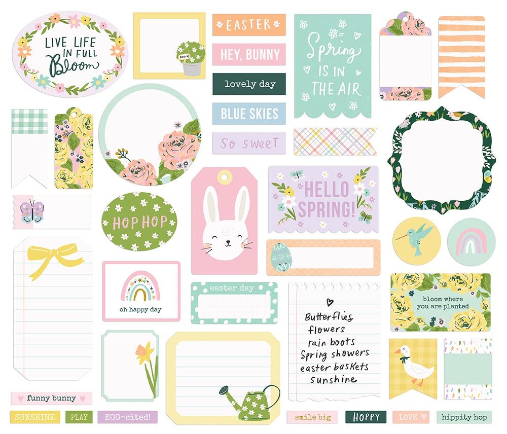 Bunnies & Blooms Bits & Pieces Die-Cuts 39/Pkg-Journal