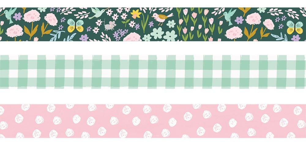 Simple Stories Bunnies & Blooms Washi Tape 3/Pkg-