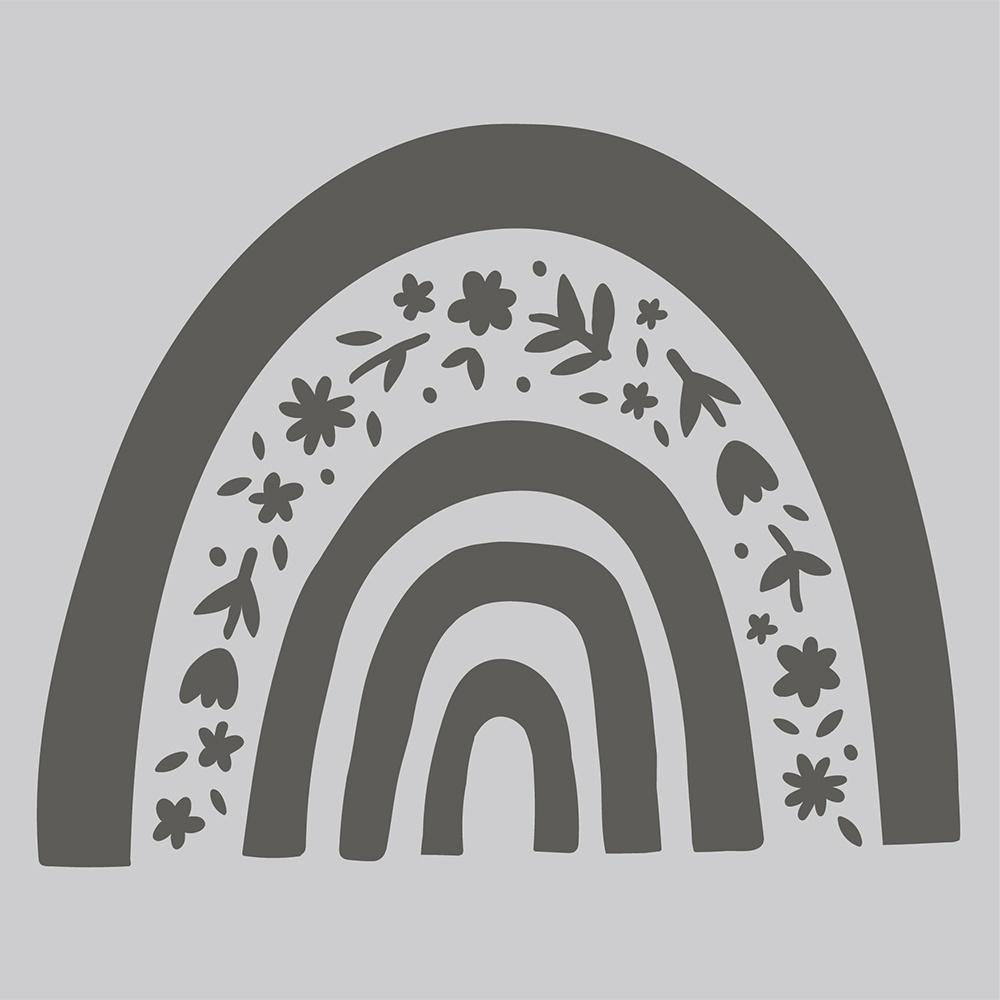Simple Stories Bunnies & Blooms Stencil 6X6-Rainbow