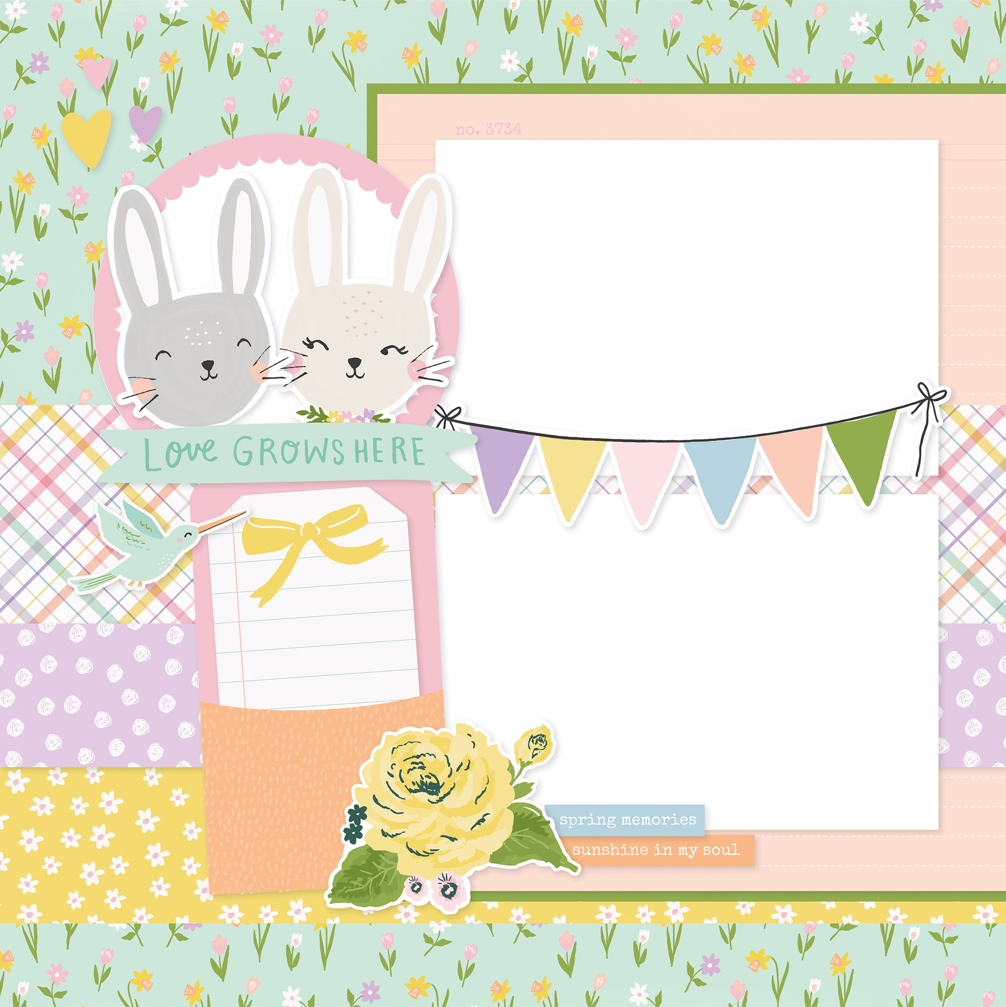 Simple Stories Simple Pages Page Kit-Happy Spring