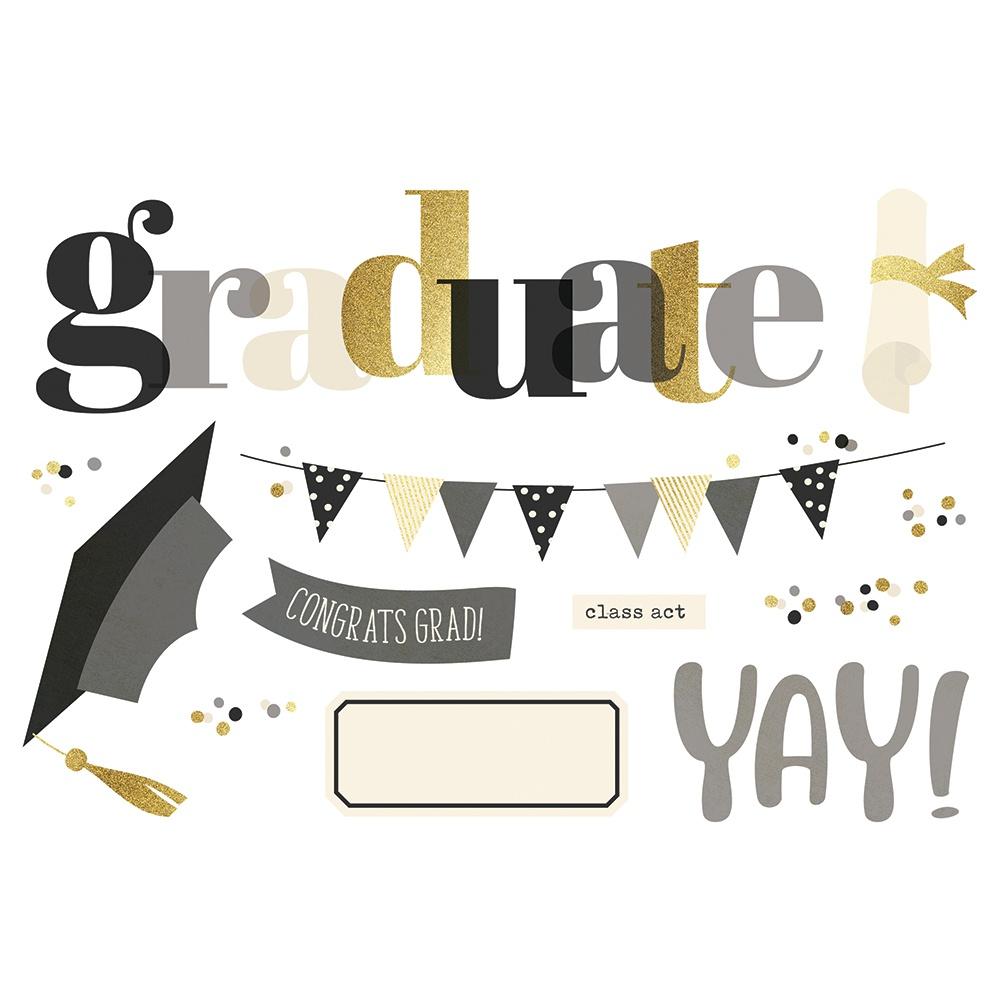 Simple Stories Simple Pages Page Pieces Graduation
