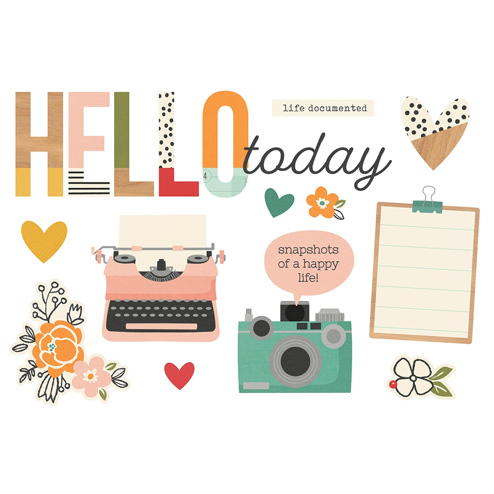 Hello Today-Simple Stories Simple Pages Page Pieces