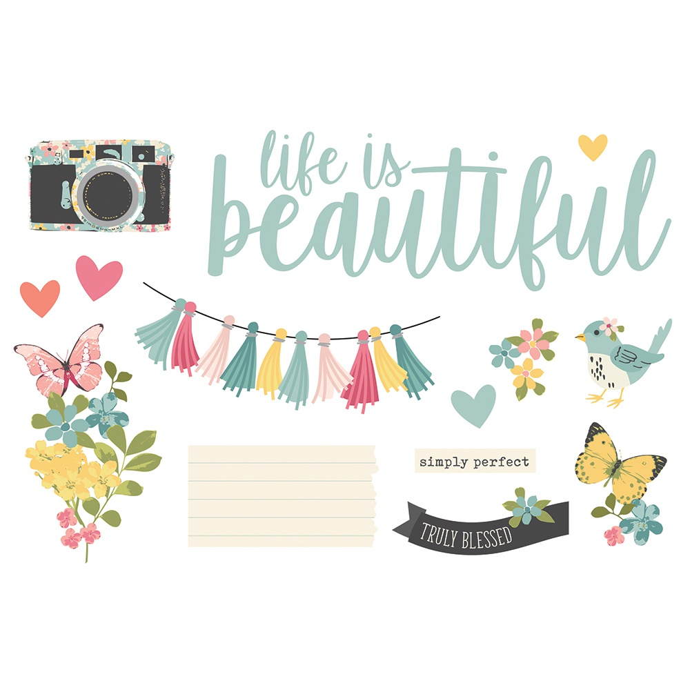 Life Is Beautiful-Simple Stories Simple Pages Page Pieces