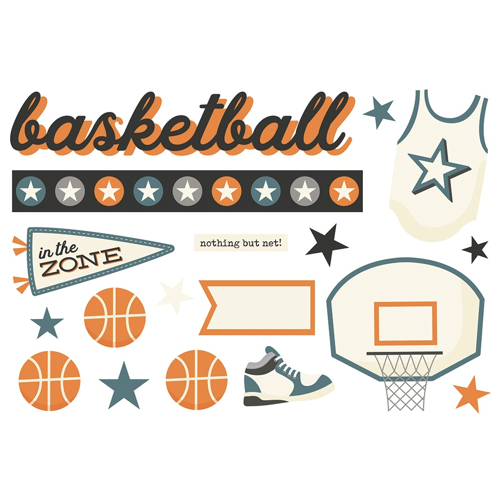Basketball-Simple Stories Simple Pages Page Pieces
