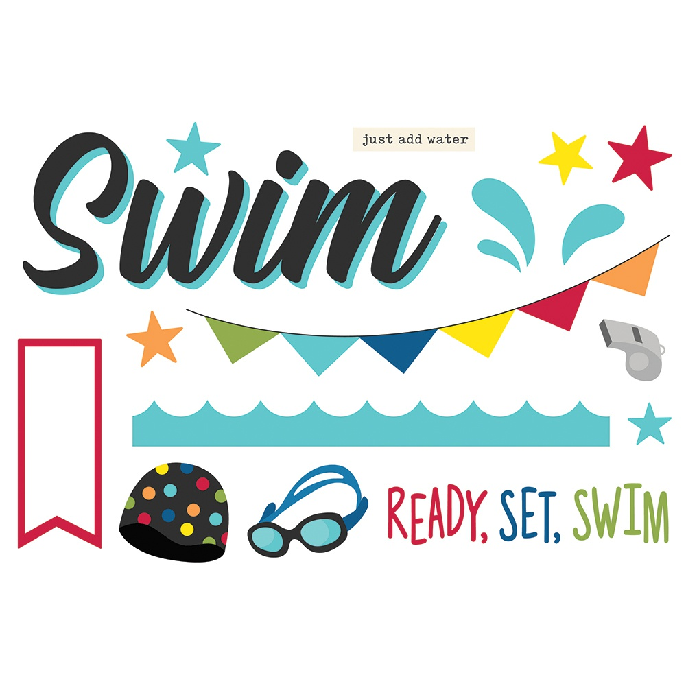 Swim-Simple Stories Simple Pages Page Pieces