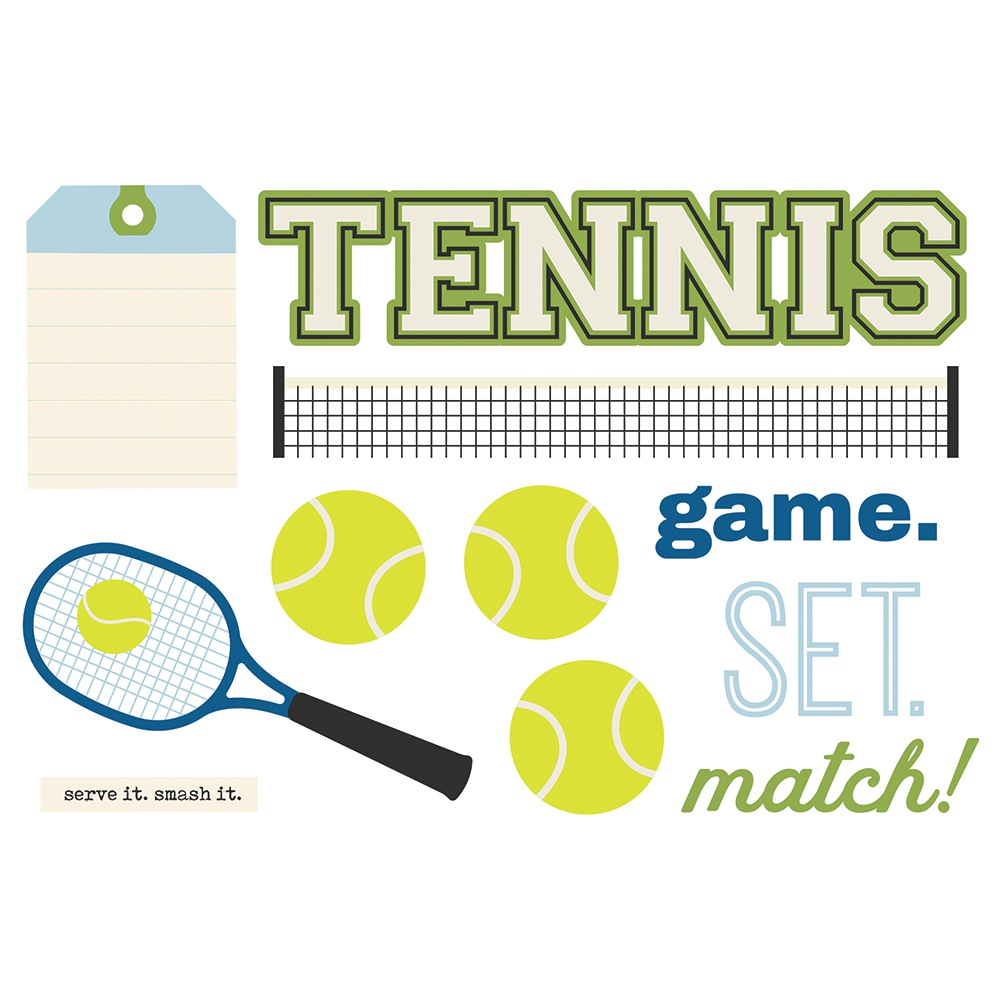 Tennis-Simple Stories Simple Pages Page Pieces