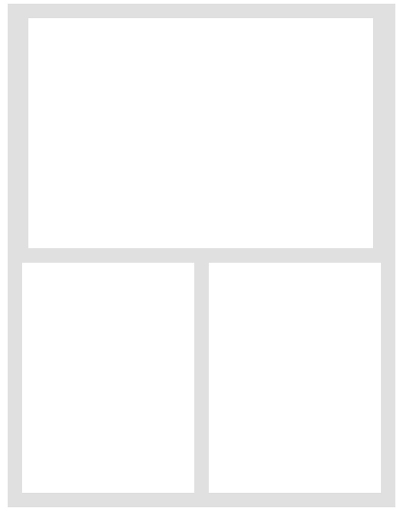 Simple Stories Simple Pages Page Template-(1) 2-3X4 & 1-4X6