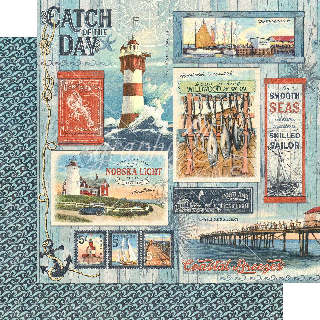 Catch Of The Day Double-Sided Cardstock - Catch Of The Day