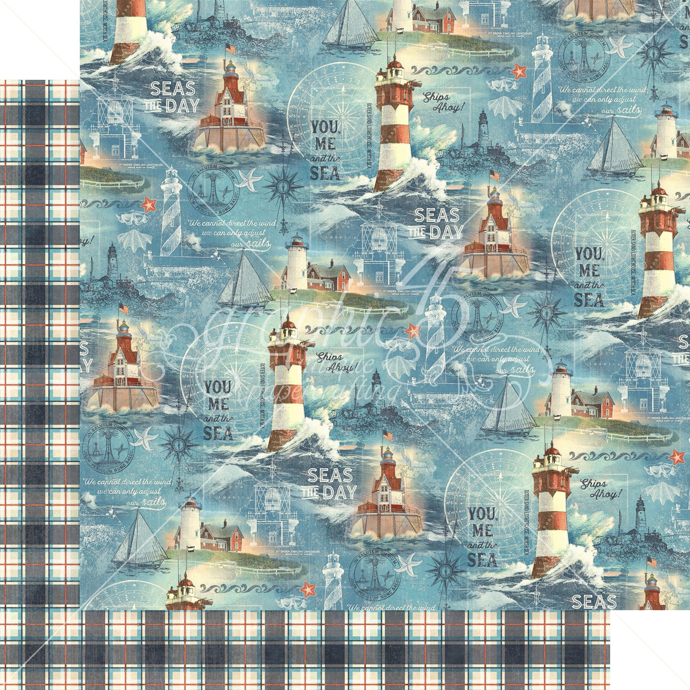 Catch Of The Day Double-Sided Cardstock - Ship Ahoy! 12x12