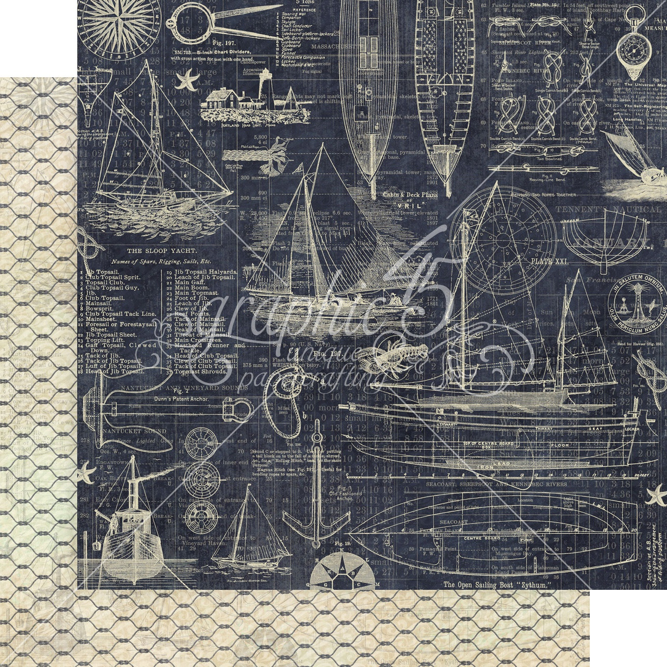 Catch Of The Day Double-Sided Cardstock 12X12-Anchors Aweigh