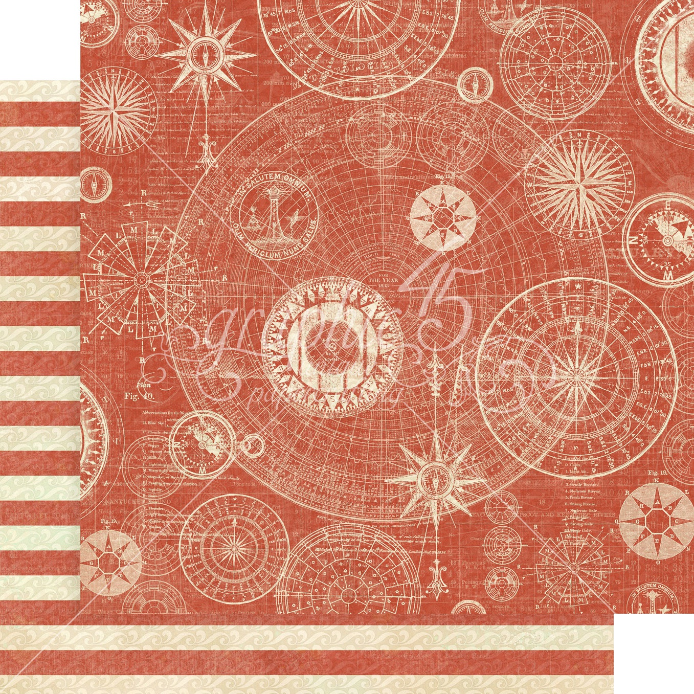 Catch Of The Day Double-Sided Cardstock - Guiding Light 12x12