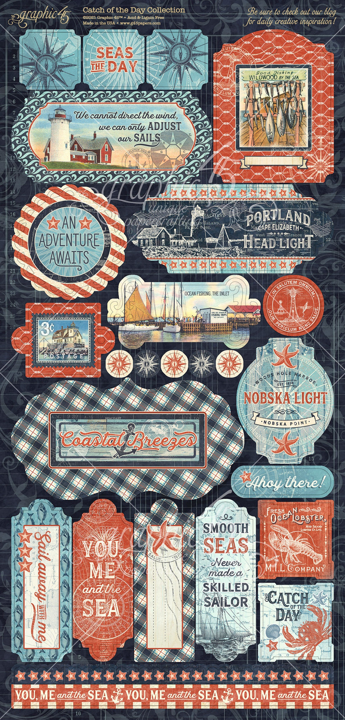 Catch Of The Day Cardstock Stickers 12X12-