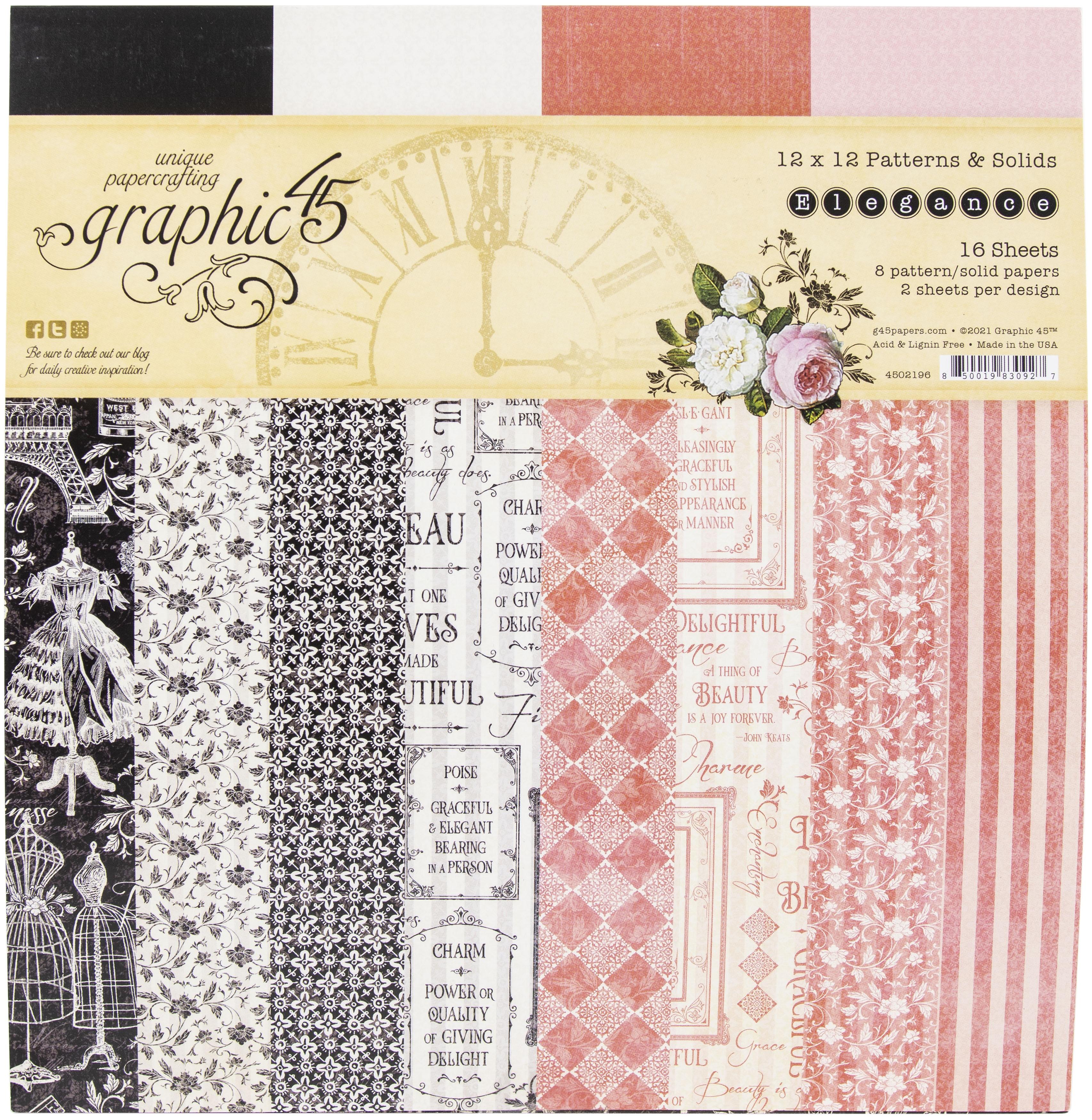 Graphic 45 - Elegance 12x12 Paper Pad