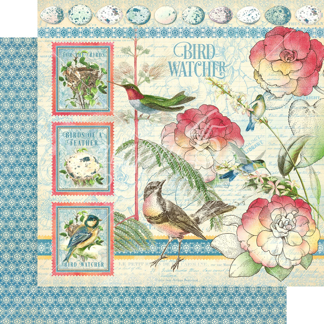 Bird Watcher Double-Sided Cardstock - Bird Watcher 12x12