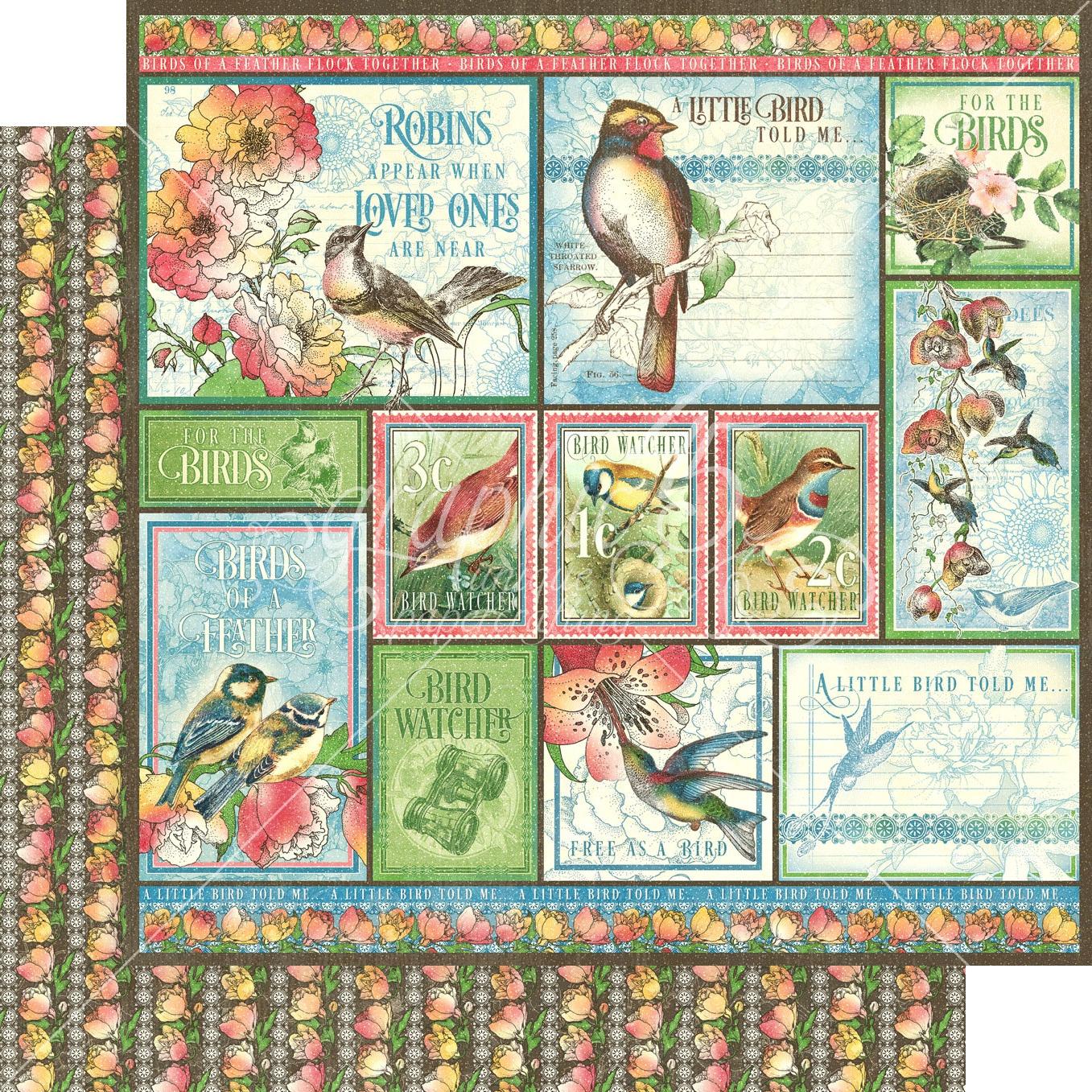 Bird Watcher Double-Sided Cardstock - Look Up! 12x12