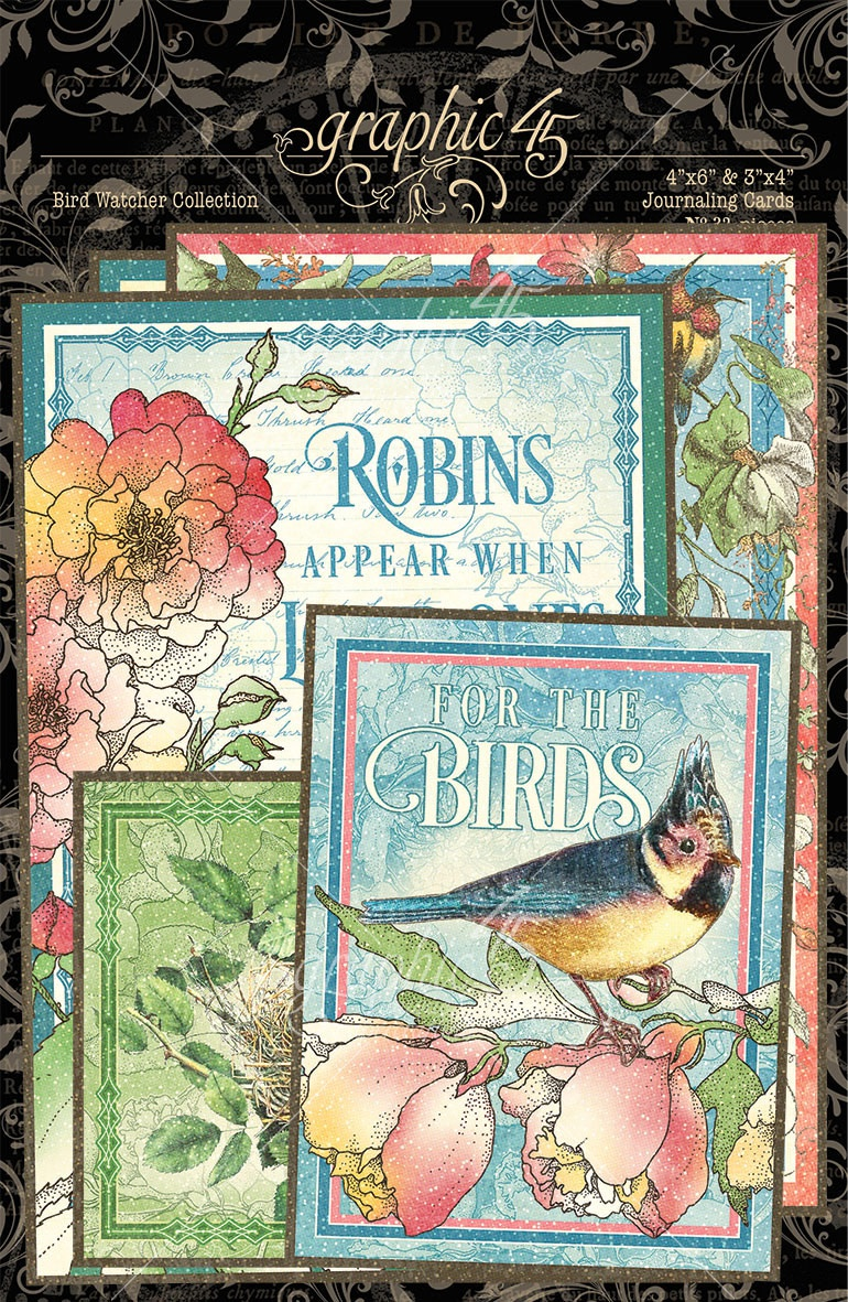 Bird Watcher Ephemera & Journaling Cards-