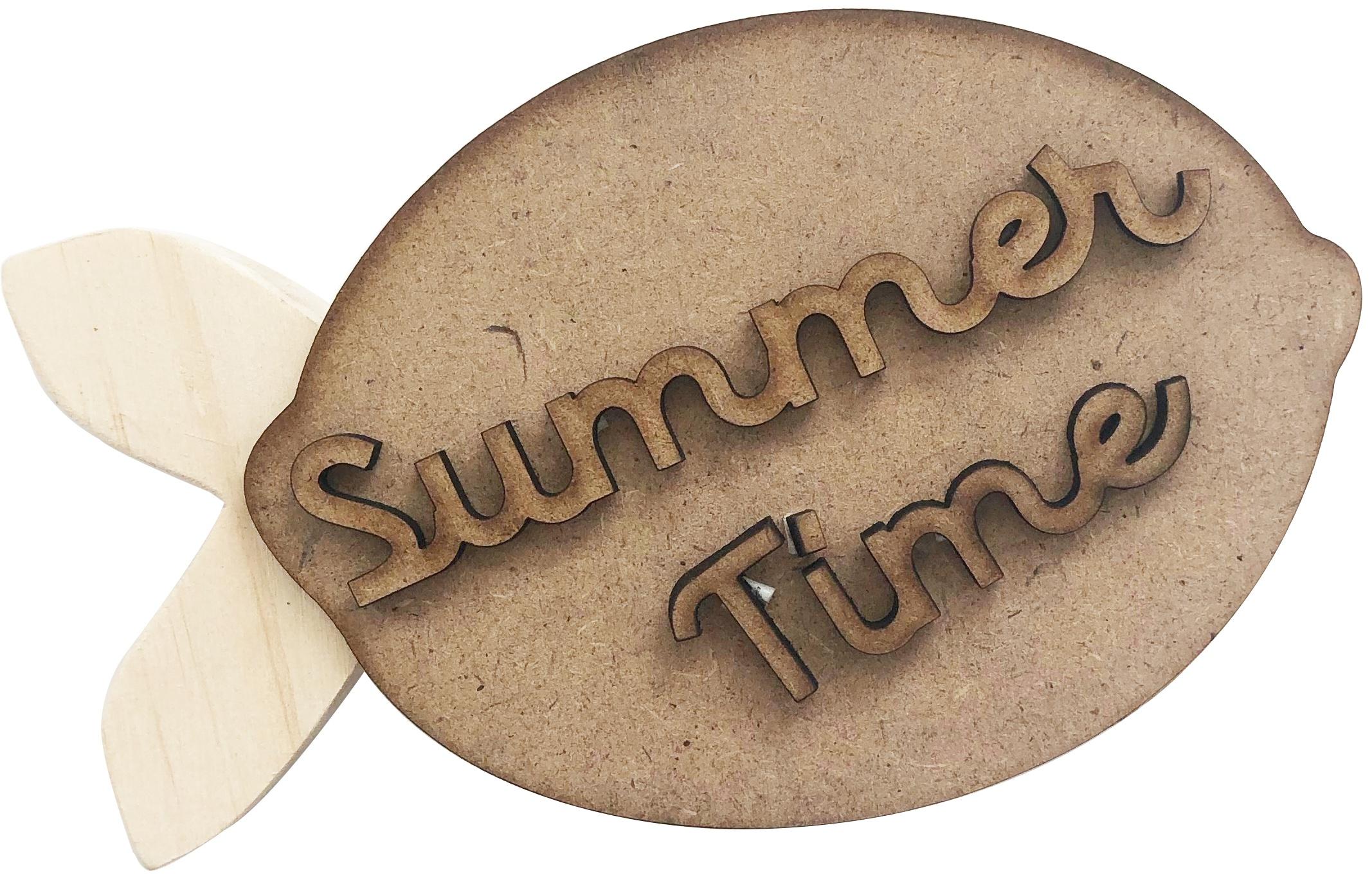 Foundations Decor Chunky Wood Block Words-Summer Lemon
