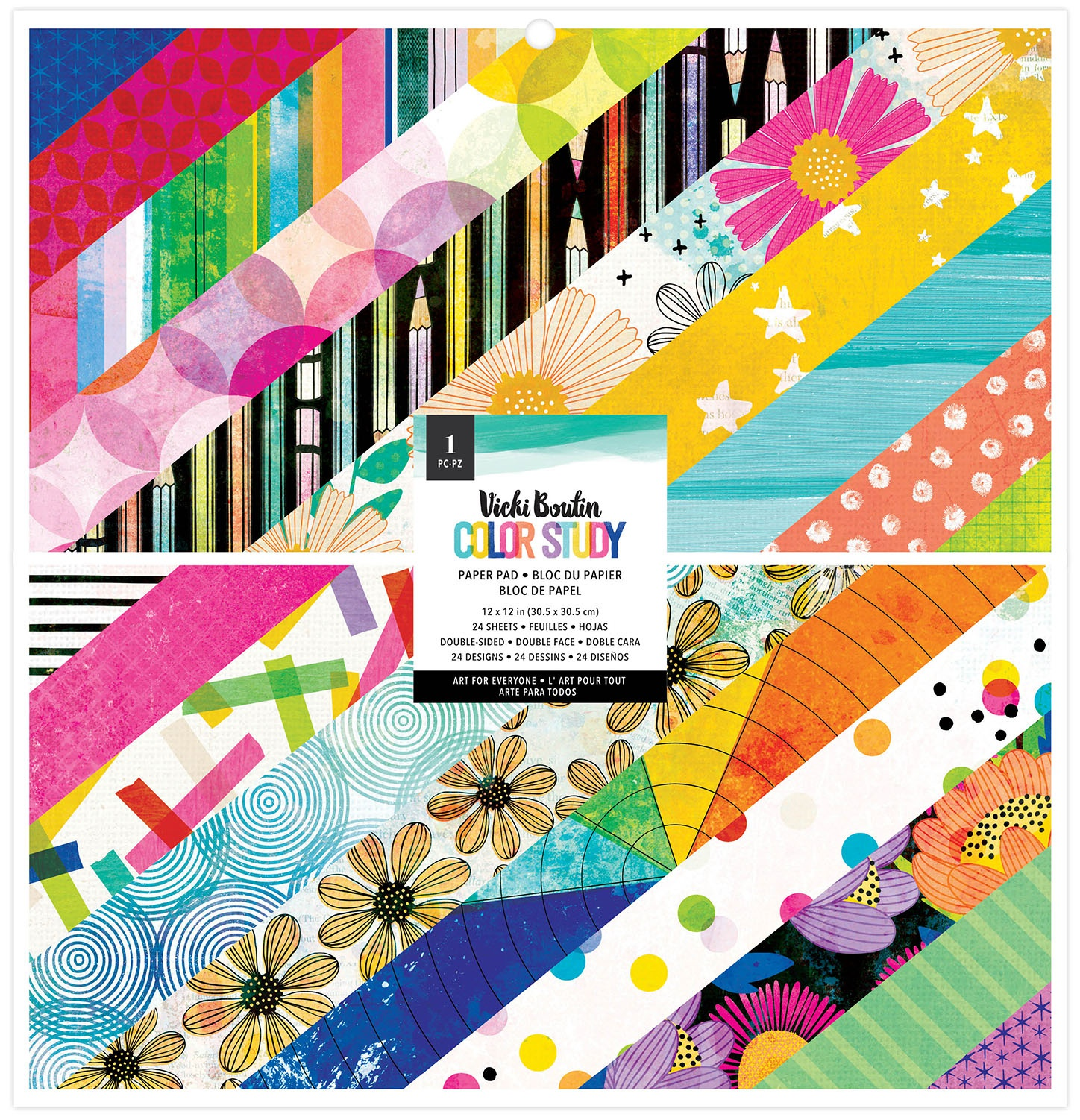American Crafts Double-Sided Paper Pad 12X12 24/Pkg-Vicki Boutin Color Study