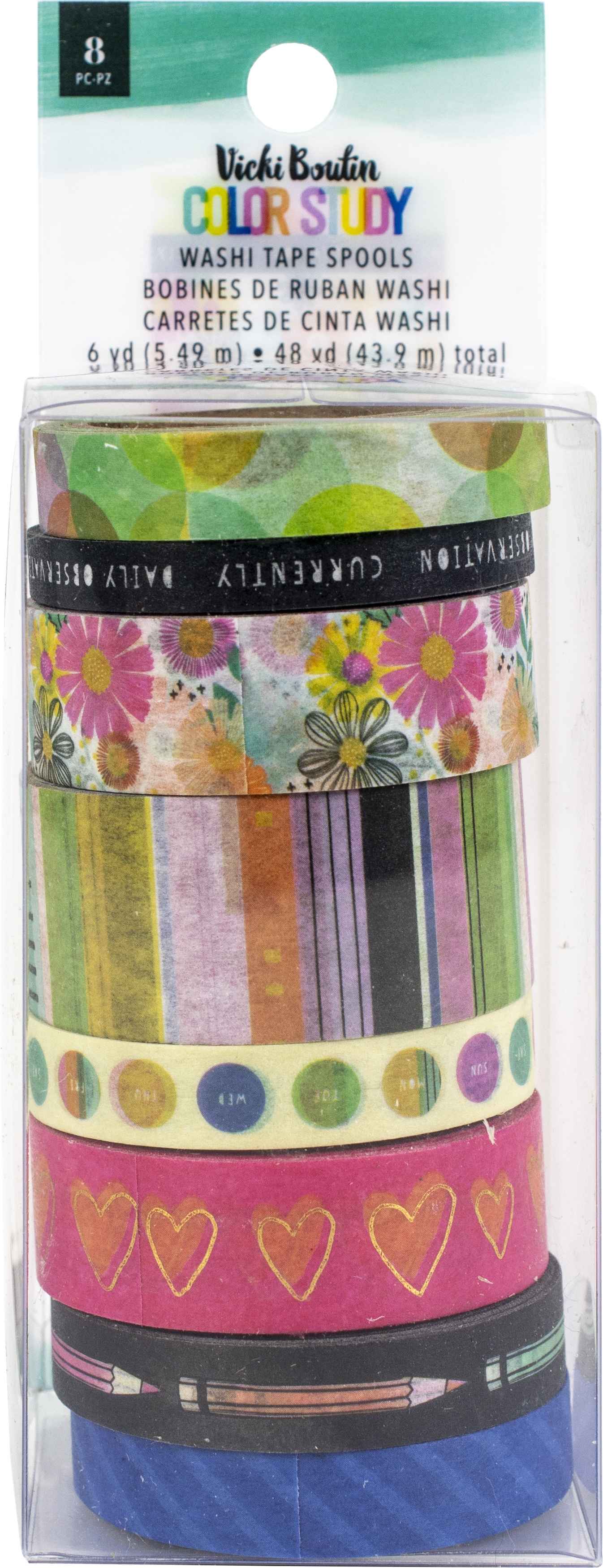 Vicki Boutin Color Study Washi Tape 8/Pkg