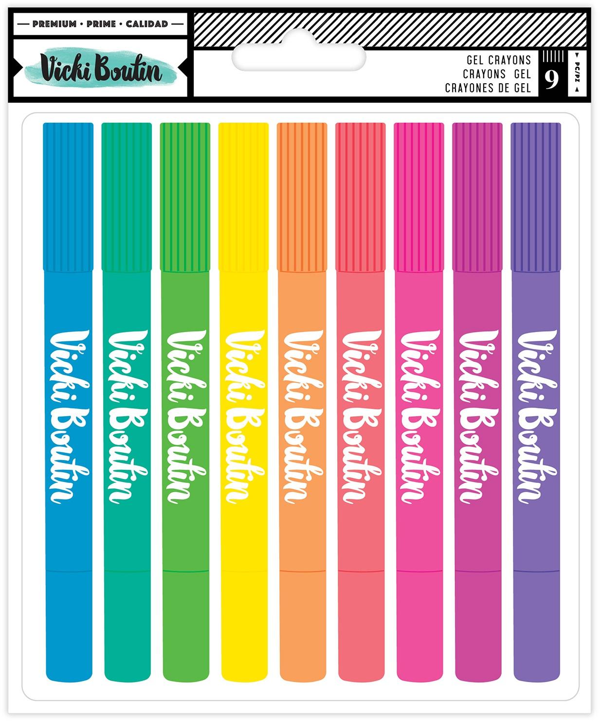 Vicki Boutin Mixed Media Gel Crayons 9/Pkg-Multicolor