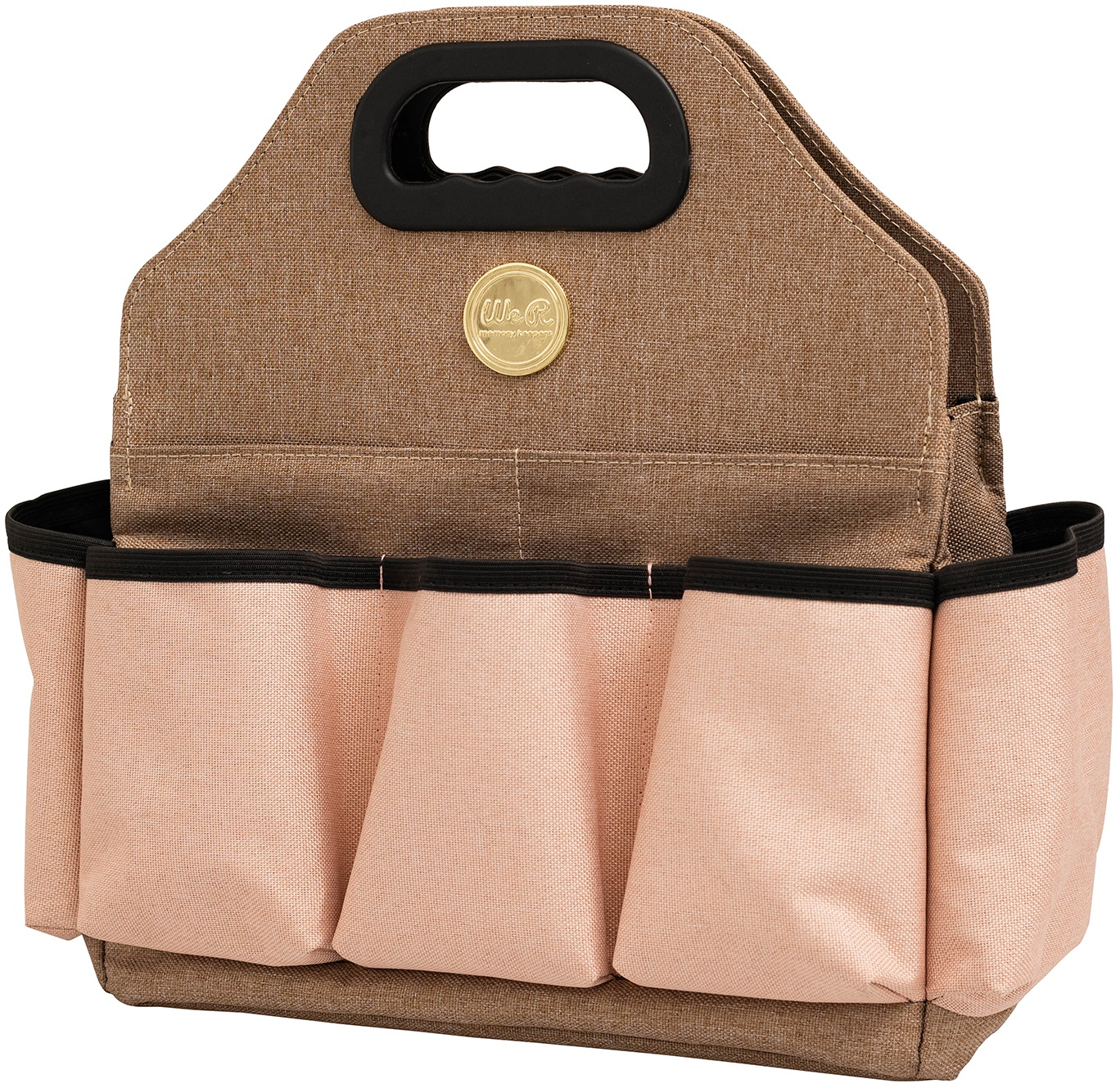 We R Memory Keepers Crafter's Tote Bag-Taupe & Pink