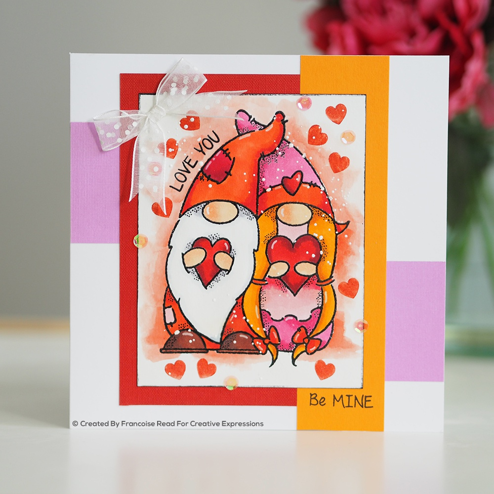 Woodware Clear Stamps 4X6-Valentine Gnome