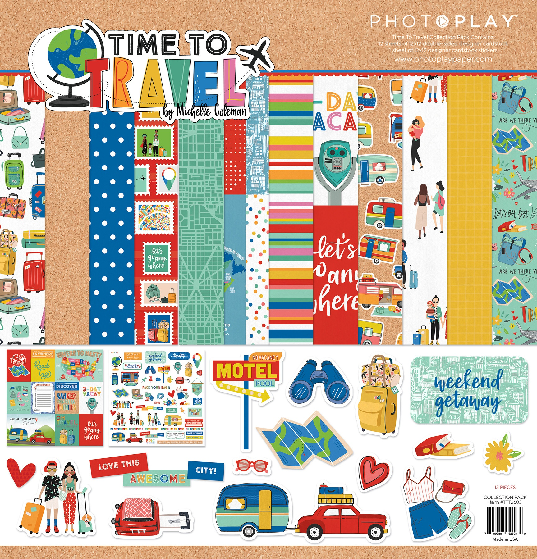 PhotoPlay Collection Pack 12X12 - Time To Travel