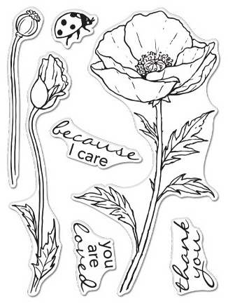Hero Arts - Hero Florals Poppy, Clear Stamps 3X4