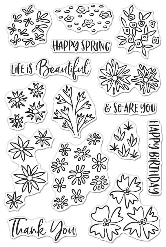 Hero Arts Clear Stamps 4X6 - Life Is Beautiful